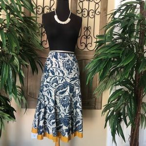 Old navy beans skirt blue and yellow